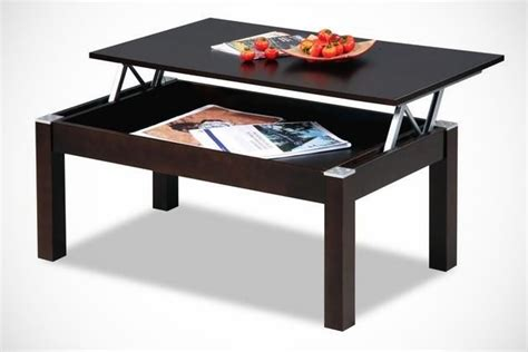 coffee table with built in storage and tv tray space