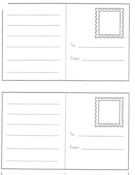 card template for kindergarten 6 best images of preschool post office printables free