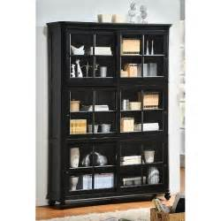 Black Bookcase With Glass Doors Master Hme654 Jpg