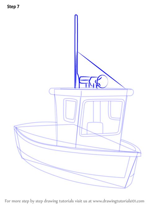 how to draw a cartoon boat step by step learn how to draw charlie jones boat from fireman sam