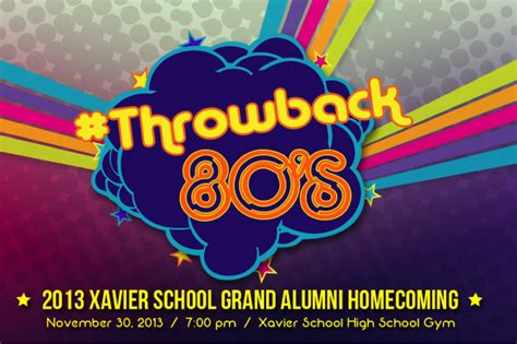 backdrop design for alumni homecoming eighties in every way the blue and the gold throwback