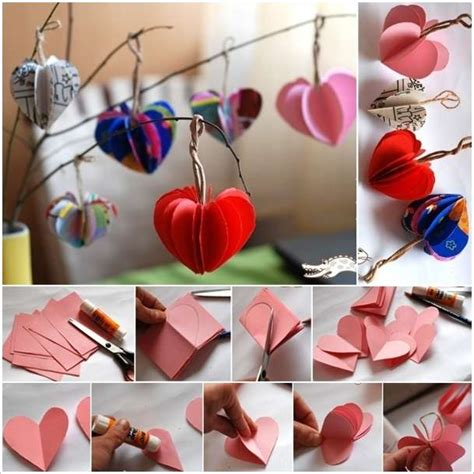 crafts for decorating your home easy paper hearts tree to decorate your home