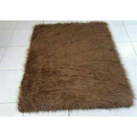 Karpet Bulu Di Surabaya jual karpet bulu korea coklat 100x130 di lapak indri
