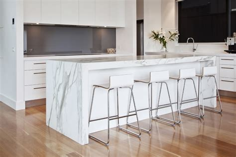 waterfall stone bench tops granite planet in mordialloc melbourne vic kitchen renovation truelocal