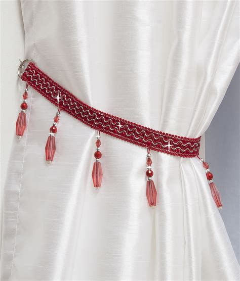 red curtain tie backs beaded curtain tie backs in red nice beaded curtain tie