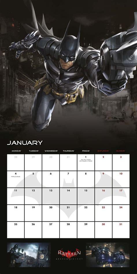 Batman Calendar Calendario 2018 Batman Arkham Europosters It