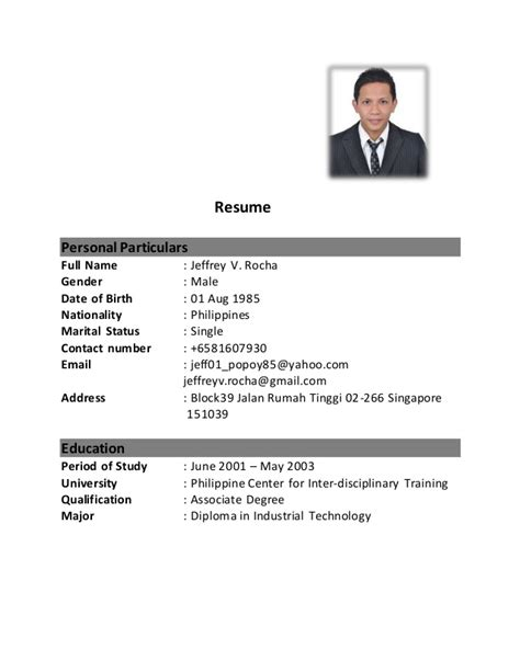Resume For Singapore Students by Essay On Buying A Home As A Faculty Member Inside Higher
