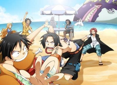 Jaket Anime Onepiece E 16 ace and luffy s families and figures one