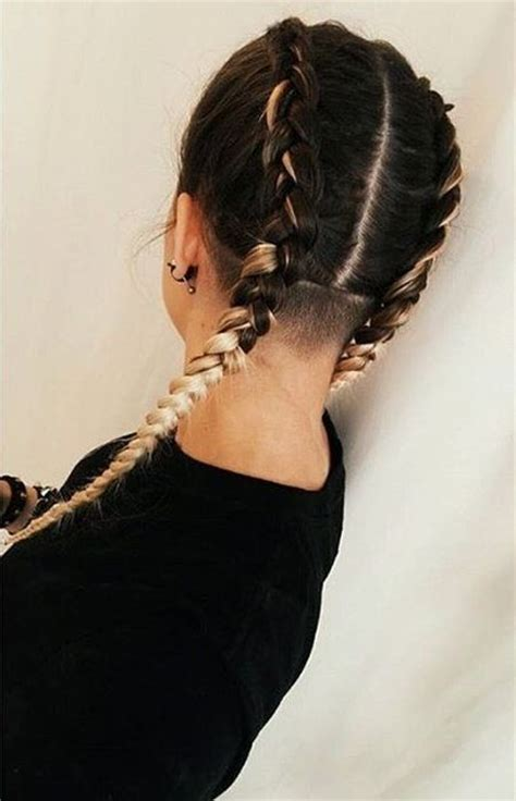 shaved head with braids 66 shaved hairstyles for women that turn heads everywhere
