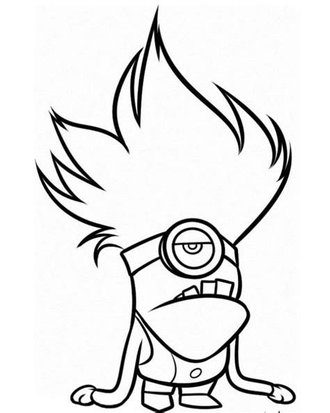 bad minion coloring page print evil minion despicable me 2 coloring pages or