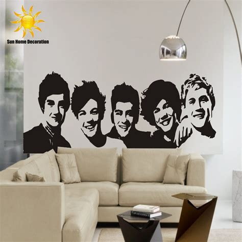 wall poster stickers aliexpress buy diy black wall sticker one direction