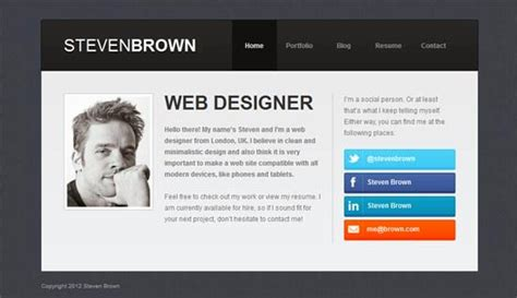 personal site template free personal website templates learnhowtoloseweight net