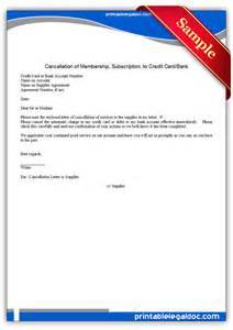 Cancellation Of Credit Card Insurance Letter Free Printable Cancellation Of Membership To Credit