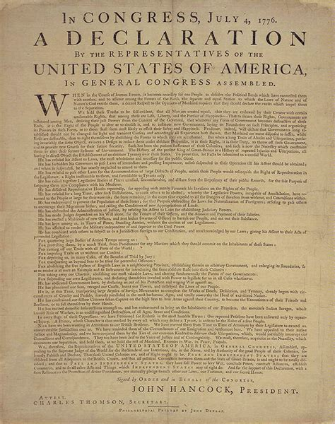 printable declaration of independence declaration of independence printables pinterest