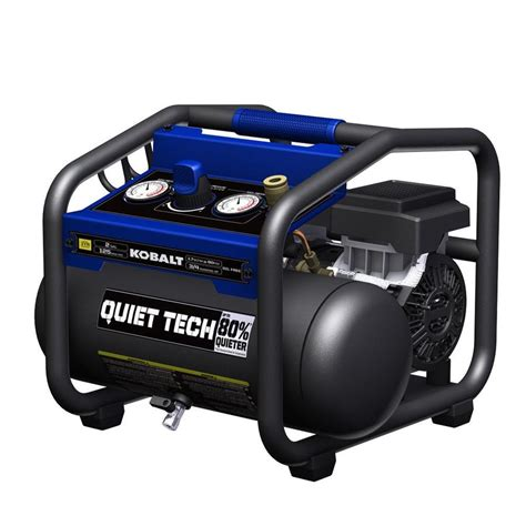 kobalt quiet tech  gallon portable electric hot dog air