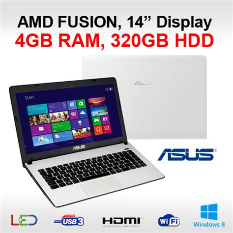 Laptop Asus Amd X401u asus x401u wx032h cheapest laptop amd fusion c60 4gb 320gb hdmi 14 quot display win8 ebay