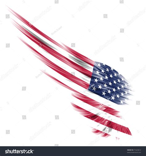 abstract wing united states flag on stock illustration