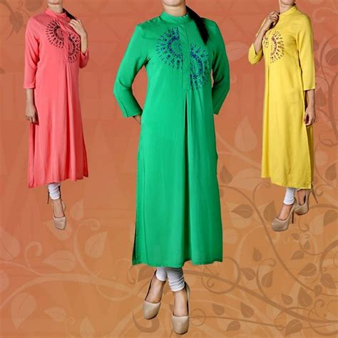 stylish long kurta trend 2014 for girls 1 life n fashion