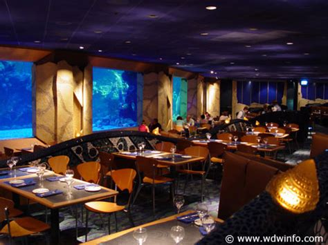 Buffet Table Dining Room by Coral Reef Restaurant Menu Epcot Future World