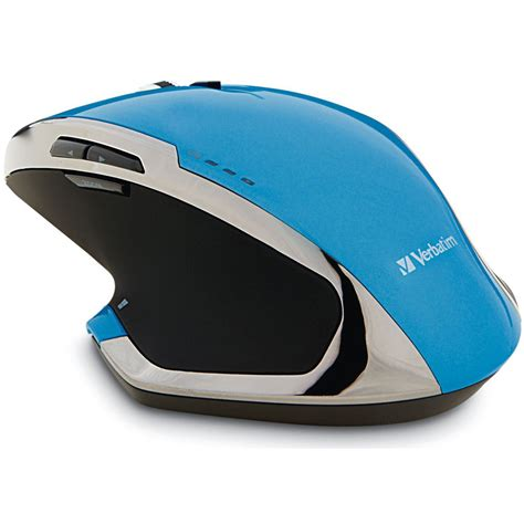 Mouse Wireless Deluxe Verbatim Wireless Notebook 8 Button Deluxe Blue Led Mouse 99019