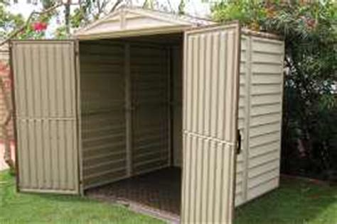 Plastic Shed 6x6 by Duramax 6x6 Storemate Vinyl Shed With Floor 30411 Free