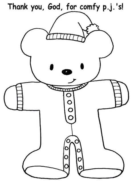 Teddy Bear In Pajamas Coloring Page | 135 best images about color sheet 3 on pinterest