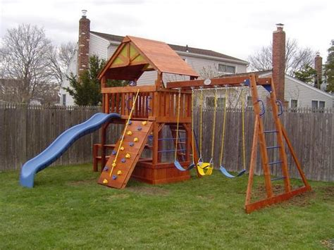 swing set installation long island wood swing set from costco