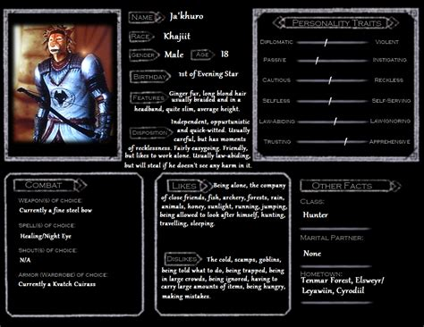 oblivion character template ja khuro by skyflower51 on