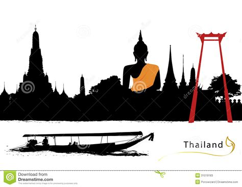 thai boat drawing thailand temple clipart clipground