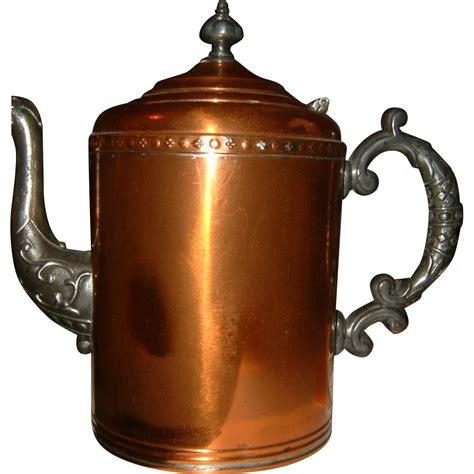 antique copper antique copper coffee pot circa 1890 sold on ruby