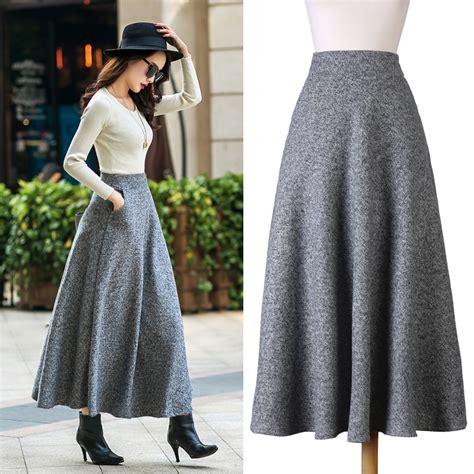 Big Skirt style new quality winter skirt 2016 autumn fashion s woolen skirts big buttom