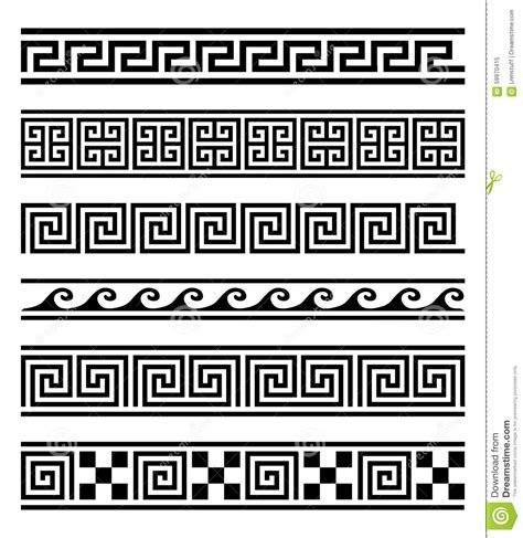Neoclassical Design by Greek Frames Vector Collection Stock Vector Image 59970415