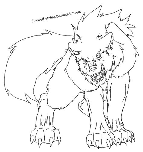 anime wolf girl coloring pages vetyro anime wolf lineart