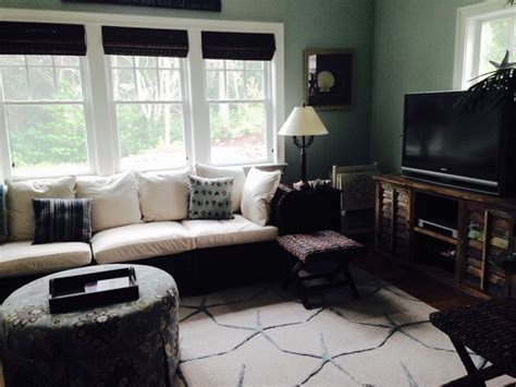 sunroom view 1 sectional and stools from pottery barn ottoman from green front furniture va