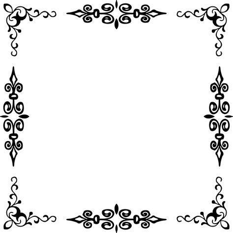 Bordir Elegan White border black and white www imgkid the