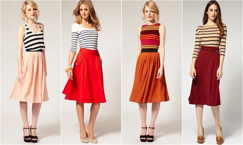 7 ways to look in a midi skirt