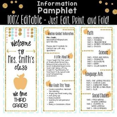 25 Best Ideas About Open House Brochure On Pinterest Teacher Brochure Open House Night And Parent Brochure Templates