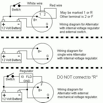 3 wire alternator wiring diagram fuse box and wiring diagram