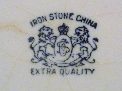 "Old Bowl marked ""Iron Stone China   ""Extra Quality"" with 2 lions"