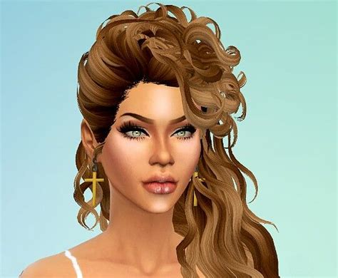 custom hair for sims 4 sims 4 custom content beautiful flowing hair sim ideas