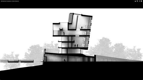 render section the architectural student section rendering sketchup and
