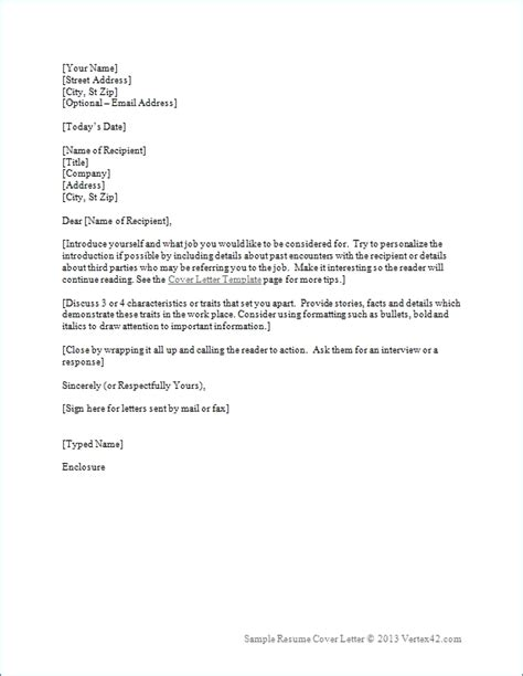 employment cover letter template resume cover letter