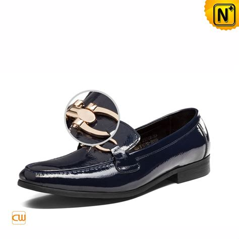 blue patent leather dress loafers for cw763315