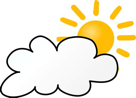 Partly Cloudy Clipart cloudy weather clip at clker vector clip