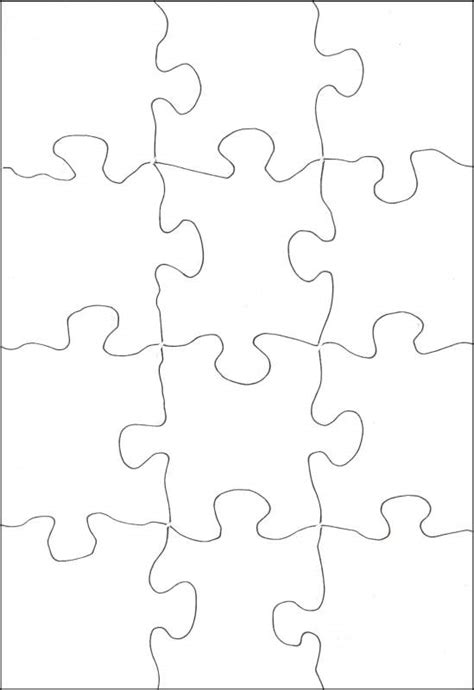 blank jigsaw template best photos of 12 puzzle template puzzle