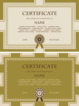 free certificate templates for adobe illustrator free adobe illustrator template certificate free vector