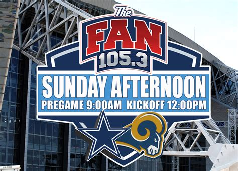 105 3 the fan listen live los angeles rams vs dallas cowboys 171 cbs dallas