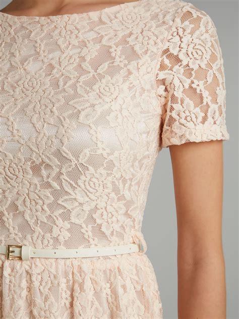 Pink Mix Black Dress 27379 sodamix lace dress in pink lyst