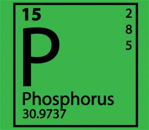 Phosphate Periodic Table by Easy Process Turns Phosphorus Green