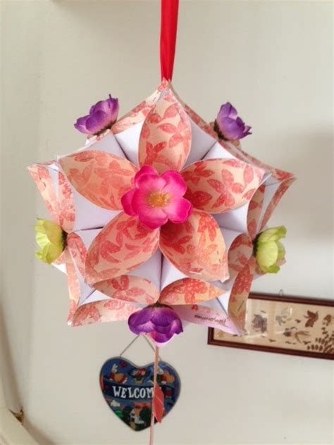 new year origami flower thing or two new year origami flower lantern